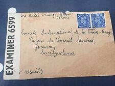 GB lettre envoyé à International CROIX ROUGE Genève CENSURE 6599 OPENED