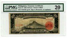 Philippines  ... P-77 ... 20 Pesos ... 1929 ... *VF* PMG 20 (VF)