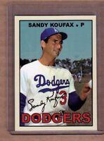SANDY KOUFAX, LOS ANGELES DODGERS CUSTOM CARD BY BOB LEMKE 1967 STYLE #612