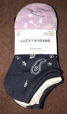 Lucky Brand No Show Socks 5 Pairs NWT
