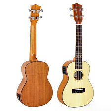 Kmise Spruce 23 Inch Electric Acoustic Concert Ukulele Hawaii Hawaiian Guitar