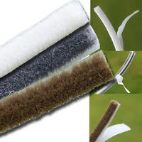 Self Adhesive Brush Pile Seal Windows Doors Draught Excluder White Brown or Grey