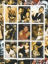 MUHAMMAD ALI CASSIUS CLAY HEAVYWEIGHT BOXING SPORTS CHAMPION MNH STAMP SHEETLET