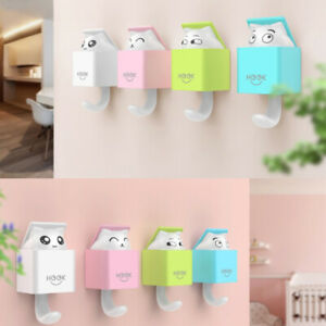 Cute Hidden Cat Wall Hanging Hook for Clothes Hat Scarf Key Cute Animals HanBDA