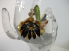 Banana Republic Fireworks  tropical flower Burst ENAMEL Flower RING 7 NWT $62