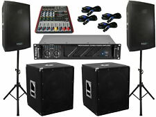 Das PA Set 52 DJ 3Wege 30 cm Boxen Stativ 38 cm Subwoofer Musiker 3000W Aktiv