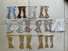 Ten Pairs Of Dolls House Curtains With Poles