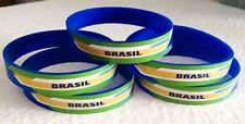 5 BRASIL FIFA Rubber Bracelets World Cup BUD LIGHT Collectible Soccer Brazil