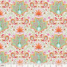 By 1/2 Yard Blend Fabrics ~ Season of Love - Lotus & Peacock Lt Grey ~ Ana Davis