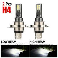 30000LM 6000K 120W Combo Pair LED Mini H4 Headlight Kit High Low Beam FOG BulbS