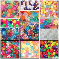 "100 Heart Flower Butterfly Star Beads 13mm 1/2"" Kids Jewelry Crafts ABCraft"