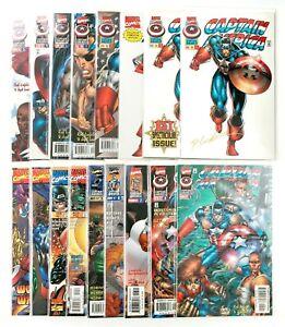 Captain America #1-13 Set (1996) 1st Rikki Barnes, Rob Liefeld Gold Sign w/COA