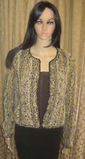 Estelle Gracer Size Large Vintage 1997 Unique Rag Crochet Button Front Sweater
