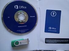 Microsoft Office 2013 Professional with ORIGINAL Disk OR USB and PKC NEW