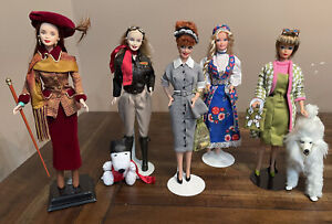 LOT of 5 BARBIE Collector Dolls~Excellent Condition~No Boxes~