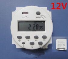 LCD 16A 24 HOUR 7 DAY TIMER  DISPLAY TIME RELAY SWITCH DC 12V Digital