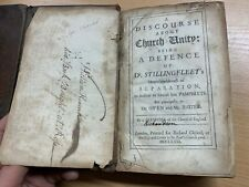 "1681 *RARE* 1ST ED ""A DISCOURSE ABOUT CHURCH UNITY"" ANTIQUE LEATHER BOOK (P3)"