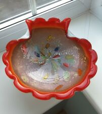 VIntage  Murano 'tutti frutti' biomorphic  glass bowl possibly by Fratelli Toso