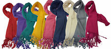 5x High Quality Viscose Plain Pashmina Scarf Shawl Hijab Stole Wrap- Pack of 5