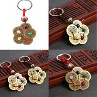 Fashion Creative Chinese Style Key Chain Keyring Copper Cash Pendant Keychain