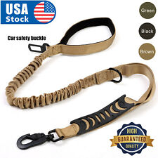 NEWRetractable nylon rope Dog Leash Tactical K9 for large dog Heavy duty coupler