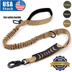 NEWRetractable nylon rope Dog Leash Tactical K9 for large dog Heavy duty coupler