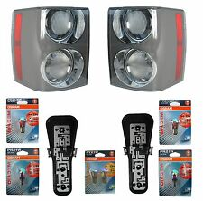 PAIR of Supercharged rear lights for Range Rover L322 Vogue 2002-09 clear lamps