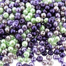 Glass Pearls Round Beads 4mm Lavender Garden Mix 800pcs (gprd04m-lvd-800)