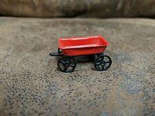 Vintage Wood Red Wagon Miniature Mini Christmas Tree Ornament Display