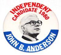 1980 JOHN B ANDERSON campaign pin pinback button political presidential election