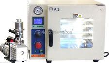 AI 5-sided 220v 0.9 CF Vacuum Oven W/ St St Tubing 220v 6 CFM Pump