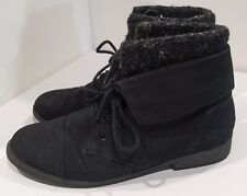 Steve Madden Black Ankle Boots with Sweater Top