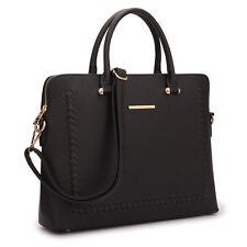 152b8462612e Women Handbag Sitching Leather Work Satchel Tote Shoulder Briefcase Laptop  Bag