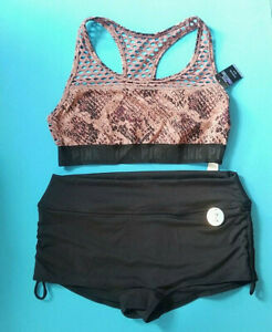 Medium Victoria Secret Pink Gym To Swim Swimsuit wrap bra Bikini 2-pieces set