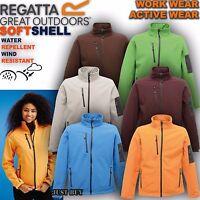 Regatta Jacket Womens Arcola Softshell Walking Hiking Running Outdoor Gym Work