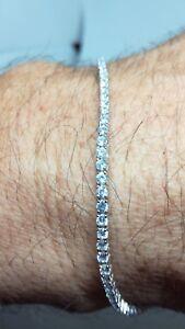 Armband Silber Rhodium Tennis Unisex MM 2 Zirkone Weiß CM 16/18/19/20 / 21