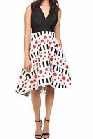 $495. Eva by Eva Franco Womens Size 6 Libby Black Tie-Back V-Neck A-Line Dress