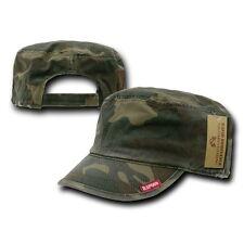 Woodland Camo Patrol Military Army Basic Cadet Flat Adjust BDU Cap Hat Caps Hats
