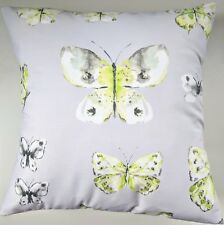 "16"" Cushion Cover in Next Grey Green Spring Butterfly Matches Bedding Curtains"