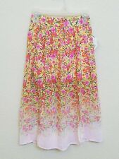 New! ALLY DAWSON D Signed - Girl's Chiffon Floral Skirt- Size Small- Super Cute!