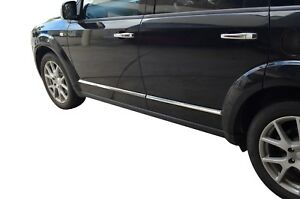 Chrome Body Side Line Moulding Protector Cover Garnish For Fiat Freemont 13-19