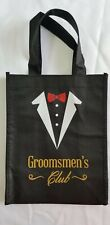 Groomsmen's Club gifts bags black only 2.Open box