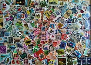 WORLD KILOWARE... WORLD STAMPS OFF PAPER 1000 STAMPS
