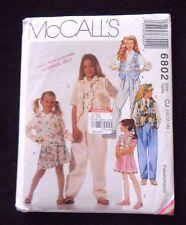 McCall's Pattern 6802 Children's Vest Shirt Skirt Pants Tie Size 10,12,14 - New