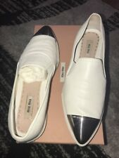 Miu Miu Silver Cap Toe Shoes Size 39