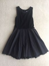 Ladies / Teenage Girls Dotti Size 10 Black Dress with Lace Bodice