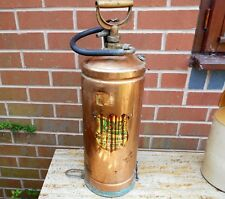 Antique Copper Brass Vintage Fire Extinguisher 1960's Original Rex 'Rexet'