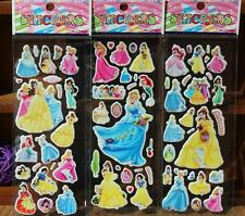 New 100 Sheets 3D Disney Princess PVC small Stickers Children's Party Gifts
