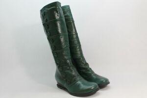 Miz Mooz Bloom Women's Green Boots (ZAP6903)