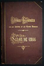 Adolphe Martial Potémont Lettres illustrées sur le Salon de 1866 Cadart & Luquet